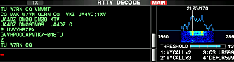 RTTY mode display