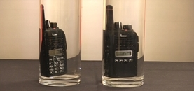 How waterproof can a two way radio be?