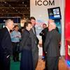 HRH The Princess Royal visits the Icom Stand at the London Boat Show 2015