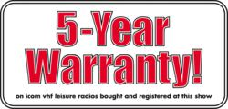 Great Offers and 5 Year Warranty on Icom Marine VHF Radios and AIS Products at the London Boatshow 2015