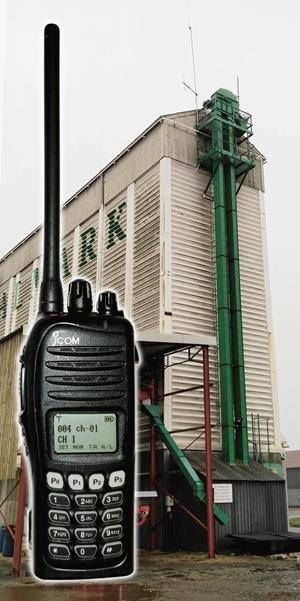 Two Way Business Radio dropped from 90 ft tower with only a Scuff
