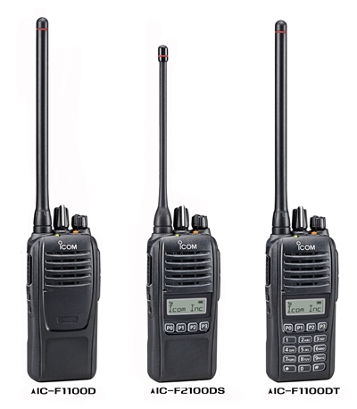 Icom UK Introduce New Compact IC-F1100D/F2100D Two Way Digital Radio Series