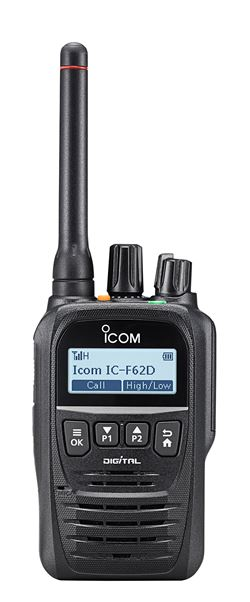 IC-F52D/F62D Digital Two Way Radio Series. Compact, Waterproof & Advanced Features!