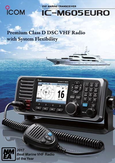 Icom IC-M605 Wins NMEA Award for Best Marine VHF Radio 2017