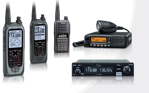 Icom 8.33kHz Airband Products on display at Sywell Rally