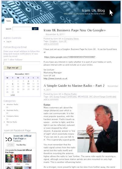 Icom UK Launch Company Blog - News - Icom UK