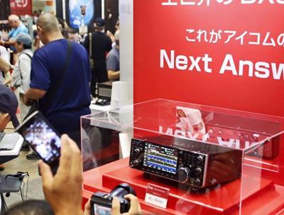 Icom IC-7610, IC-R8600, IC-R30 and ID-51 PLUS2 models shown at Tokyo