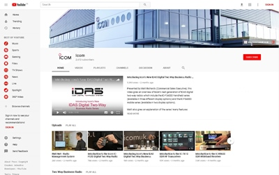 Have You Visited Icom UK's YouTube Channel