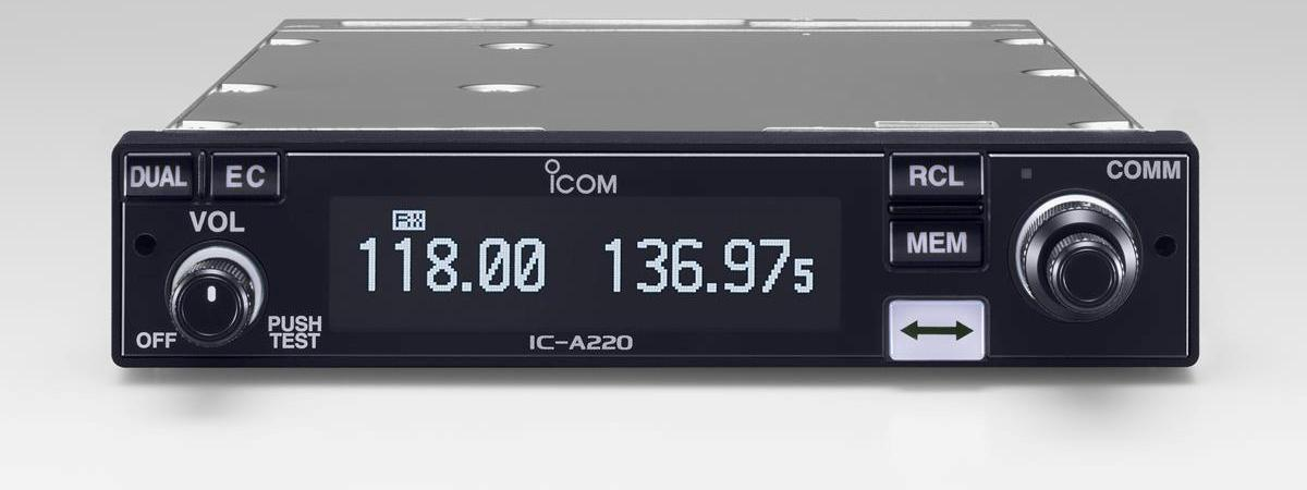 Icom Launch New IC-A220T 8.33kHz Air Band Panel Mount VHF Radio