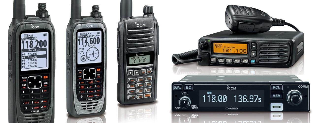 Overview of Icom's 8.33/25kHz Airband Radio Range
