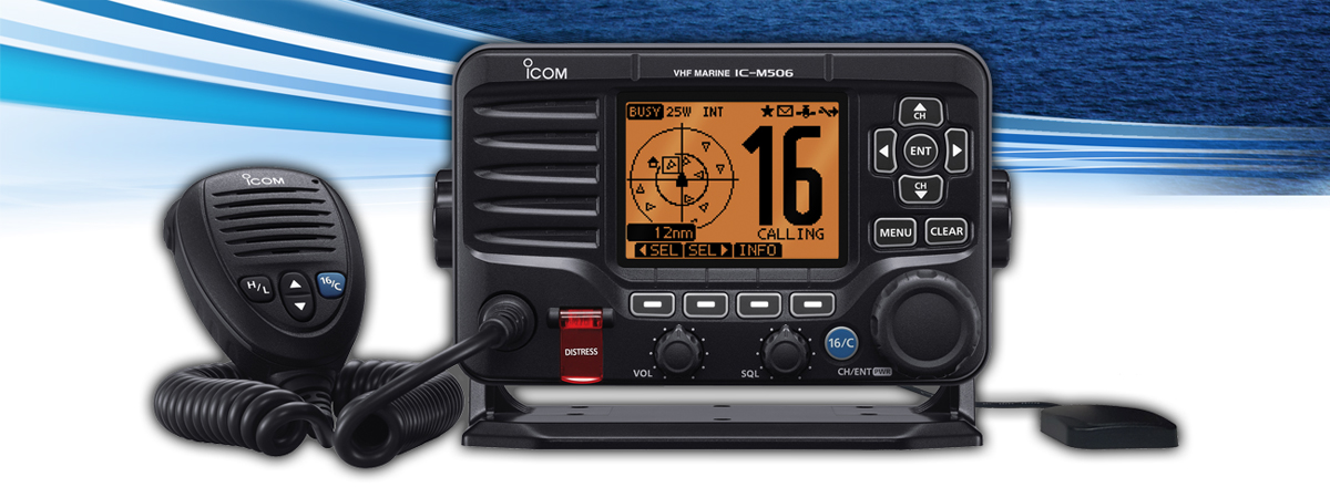 Introducing the IC-M506GE Fixed Mount VHF and GPS/AIS Receiver Combo