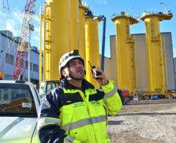 Digital Two Way Radio Assists in the Coordination of the Construction of One of the Largest Wind Farms in Europe