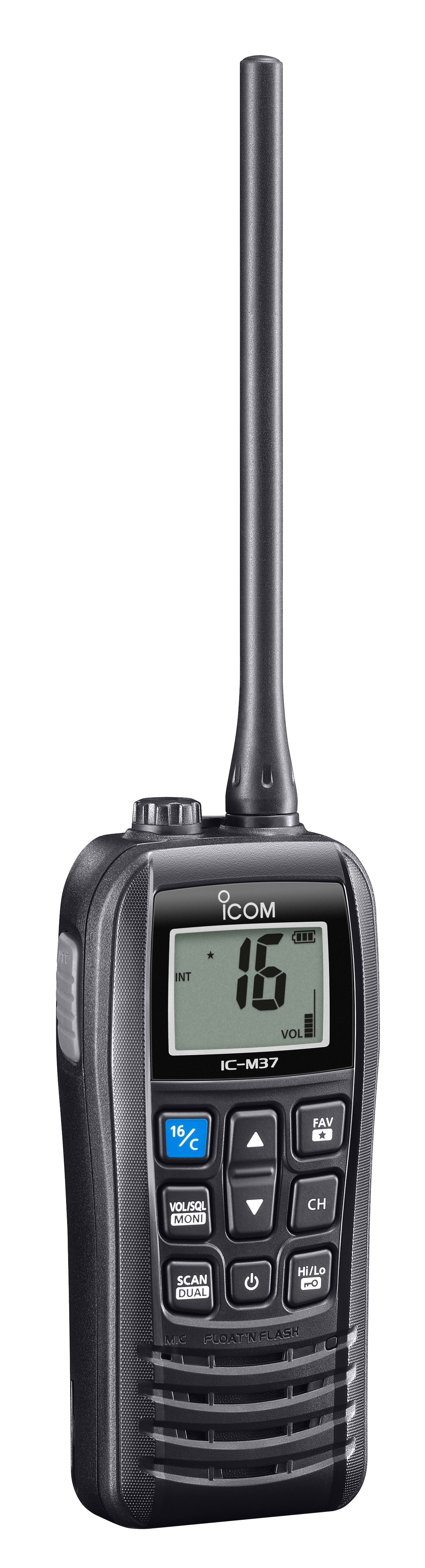 IC-M37E Marine VHF Handheld (Side)